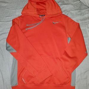 Bright Orange and Grey Nike Thermafit Hoodie